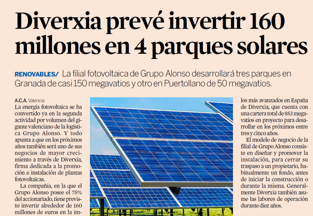 Noticia Expansion Parques Solares en España